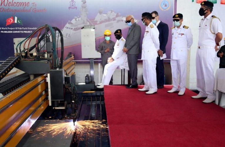 Pakistan Navy MILGEM-Class Corvette Steel Cutting Ceremony