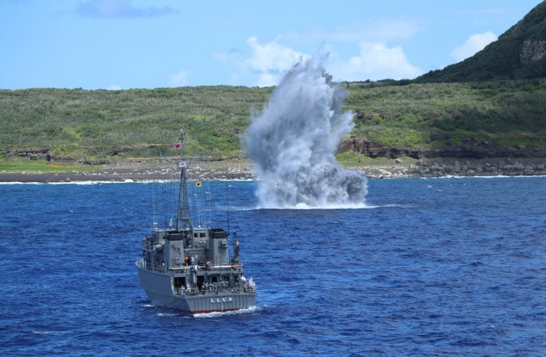 JMSDF Conducts Mine Warfare Drills