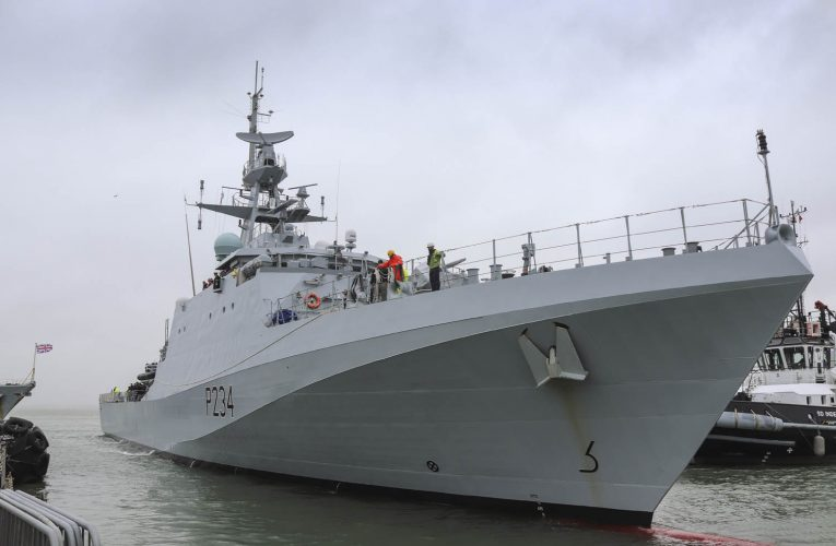 Latest UK Offshore Patrol Vessel HMS Spey delivered