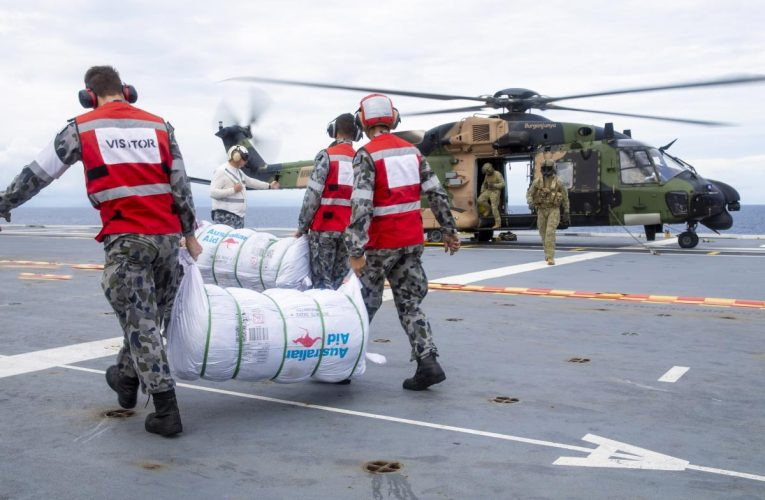 Helicopters Vital in Delivery of Supplies to Cyclone Hit Fiji