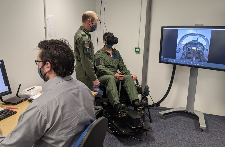 Virtual Reality Trials Transforms Future Fast Jet Training with CAE' Sprint VR Trainer