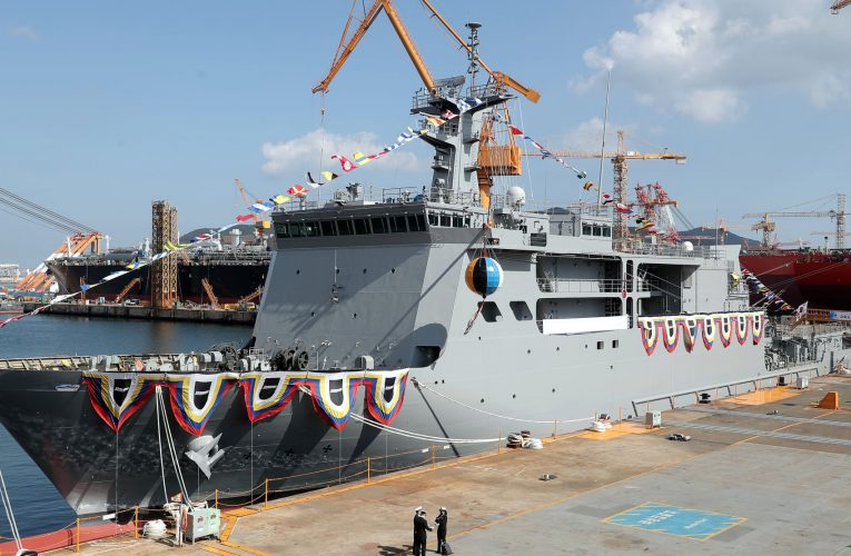 South Korea Launches Next-Generation Submarine Rescue Ship